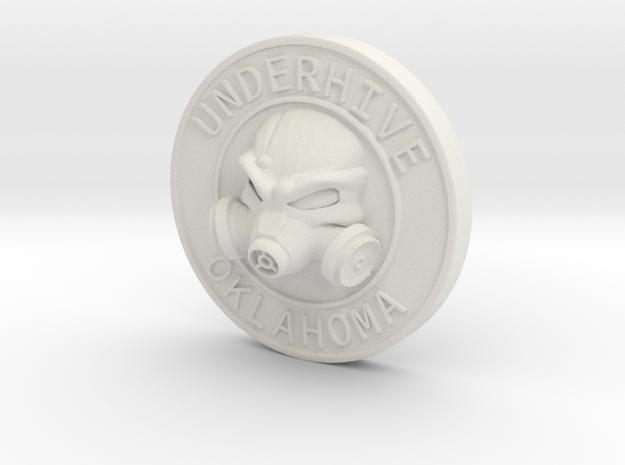 OK-Underhive Token in White Natural Versatile Plastic