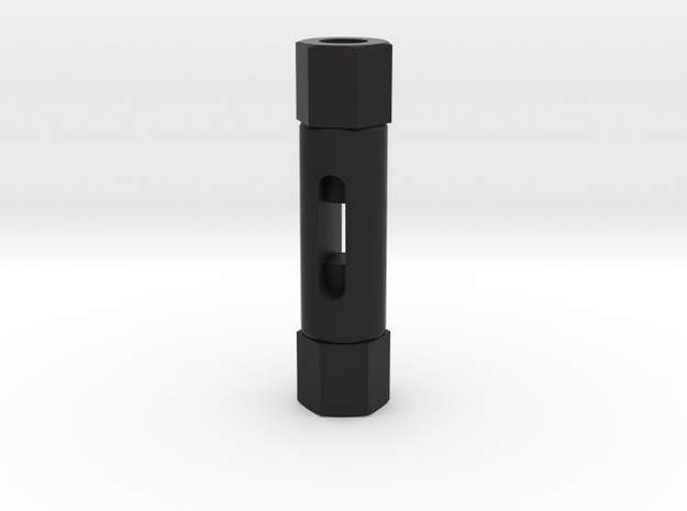 Signal Semaphore Turnbuckle 1.5mm 1:19 scale in Black Natural Versatile Plastic