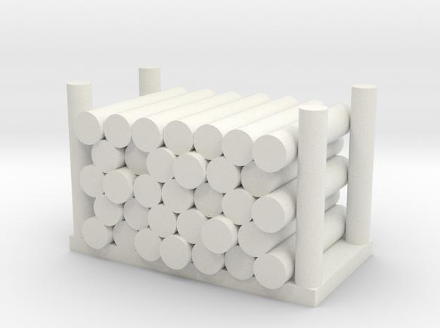 Holzstapel 33er Versatile Platsic (WSF) - 1:120 in White Natural Versatile Plastic
