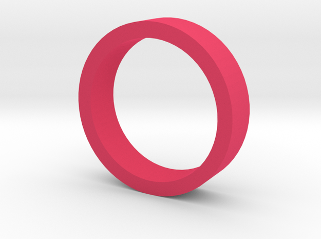 Ring Flat Thin in Pink Processed Versatile Plastic