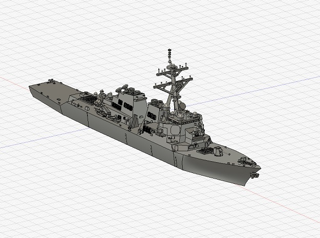 1/1250 USS ArleighBurke in Smooth Fine Detail Plastic