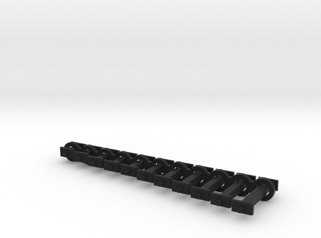 N Scale Fixed Coupling Drawbars - Full Sample Set in Black Natural Versatile Plastic