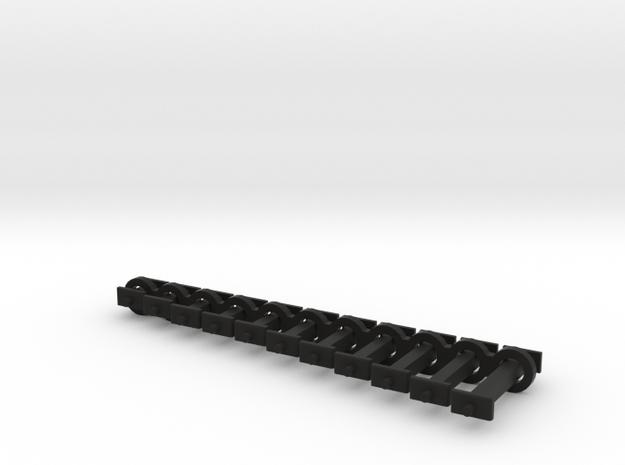 N Scale Fixed Coupling Drawbars - Full Sample Set in Black Natural Versatile Plastic