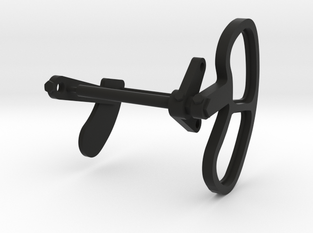 Signal Semaphore Lense Frame & Blinker 1:19 scale in Black Natural Versatile Plastic