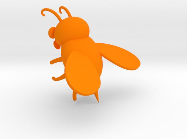bee in Orange Processed Versatile Plastic: Extra Small