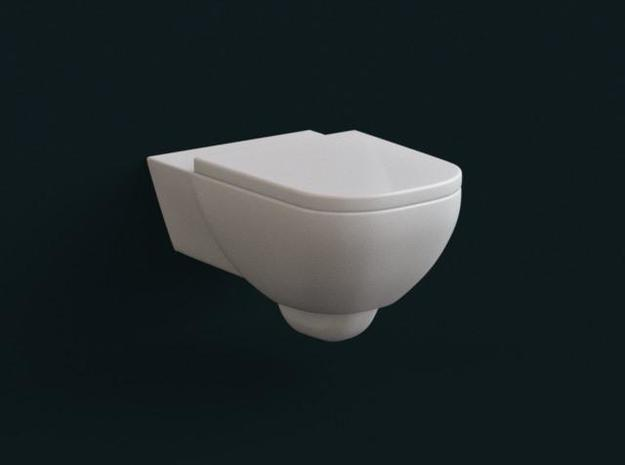 1:39 Scale Model - Flush Toilet 03 in White Natural Versatile Plastic