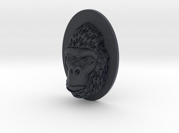 Gorilla Face + Half-Voronoi Mask (001) in Black Professional Plastic