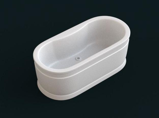 1:39 Scale Model - Bath Tub 03 in White Natural Versatile Plastic