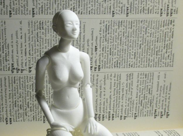 Mannequin 27C in White Natural Versatile Plastic