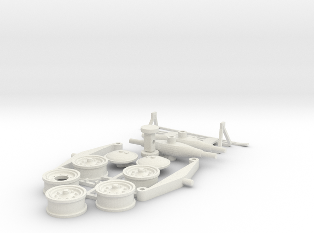 DAF HD10 oplegger parts in White Natural Versatile Plastic
