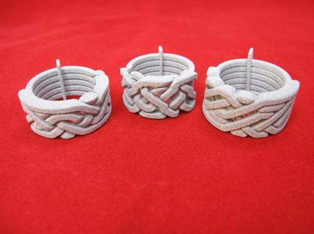 Ring set 1   Weave-Five   Take-Five   Six-to-Three in White Natural Versatile Plastic