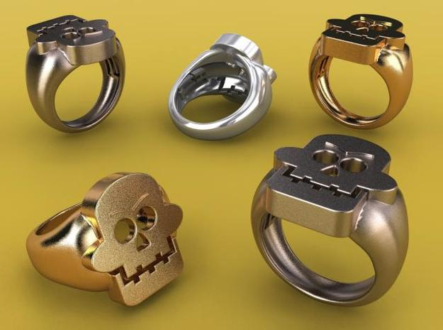 Skull III Ring in Stainless Steel