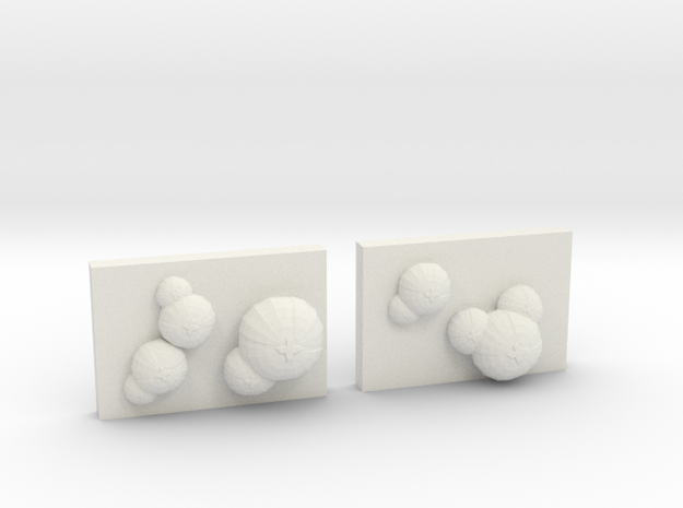 Infected Alien Spore Pods in White Natural Versatile Plastic: 15mm