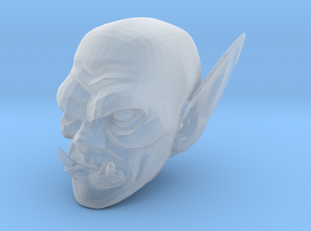 orc head 2 in Smooth Fine Detail Plastic