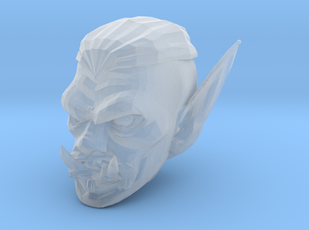 orc head 3 in Smooth Fine Detail Plastic