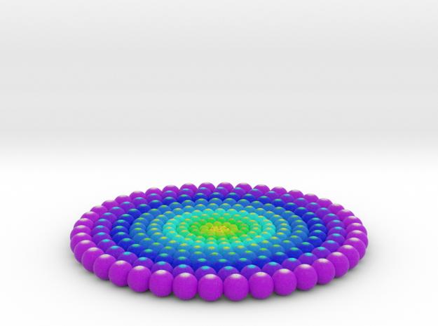 3D Mandala in Natural Full Color Sandstone