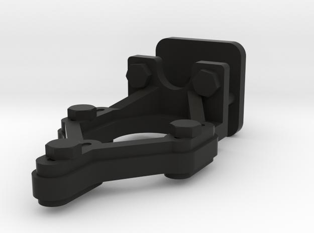 Signal Lamp & Blinker Brackets w/bolts 1:19 scale in Black Natural Versatile Plastic