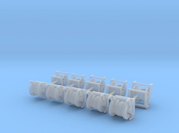 1/64th set of ten Fire Hose Reels