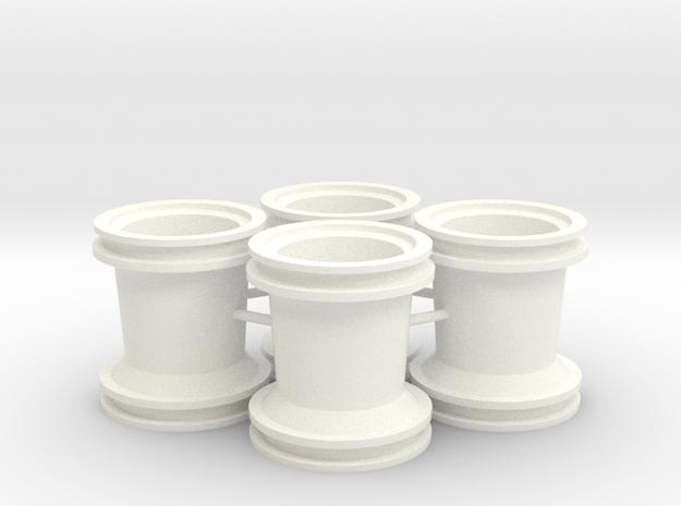 1/24 Rammunition Rims in White Processed Versatile Plastic