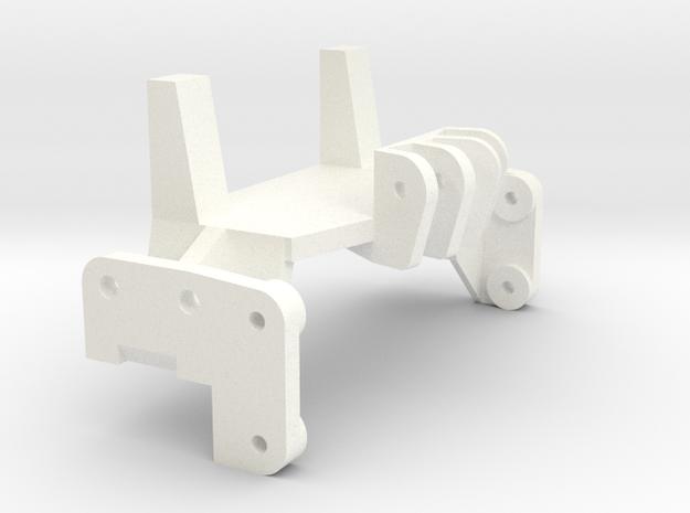 1/24 Rammunition Front shock bracket in White Processed Versatile Plastic