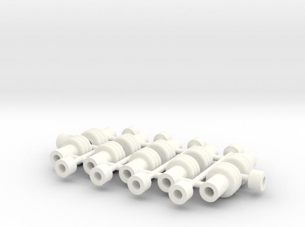 1/24 Rammunition Shock parts_1 in White Processed Versatile Plastic