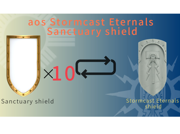 AOS Sanctuary shield in Smooth Fine Detail Plastic