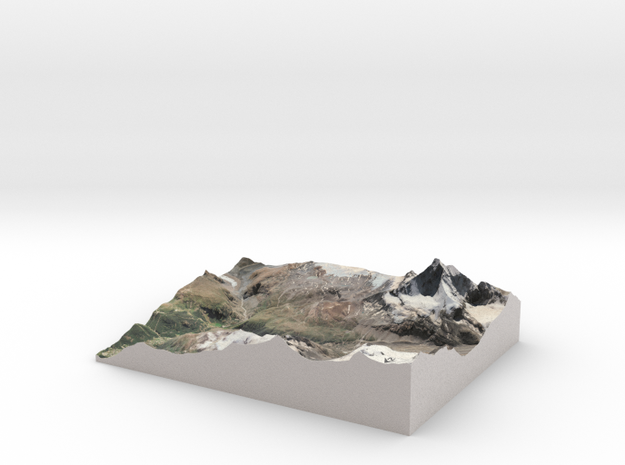 "Matterhorn / Monte Cervino Map: 8.5""x11"" (21x27 cm in Matte Full Color Sandstone"