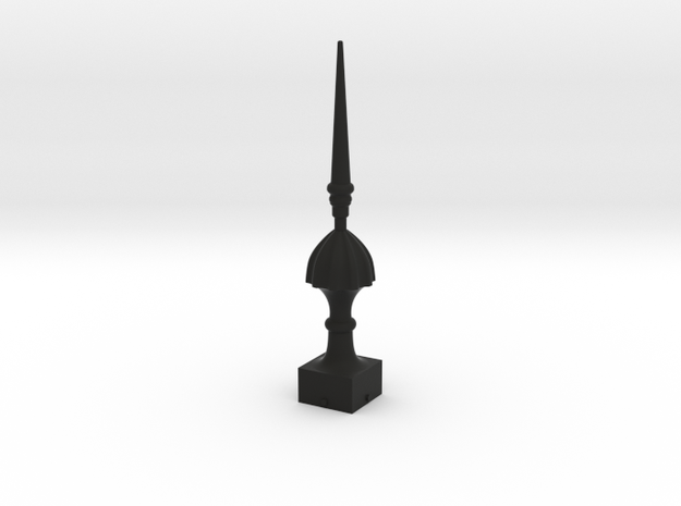 Signal Semaphore Finial (Victorian Spike)1:19scale in Black Natural Versatile Plastic