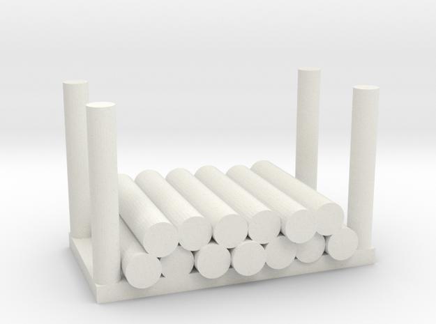 Holzstapel 13er Versatile Platsic (WSF) - 1:120 in White Natural Versatile Plastic