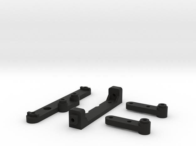 Tamiya M-07 210mm Body Post Kit in Black Natural Versatile Plastic