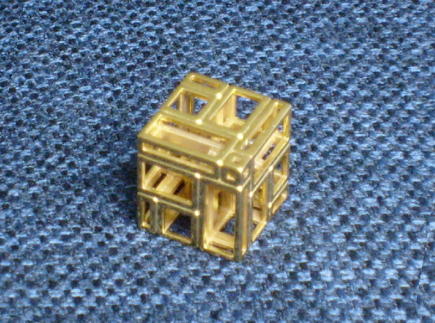 A Simple Imperfect Bricked Cube (SIBC) in Raw Bronze