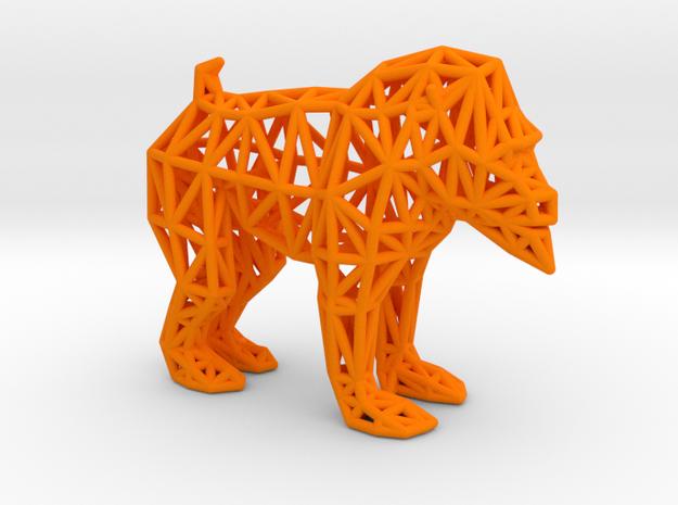 Mandrill (adult male) in Orange Processed Versatile Plastic