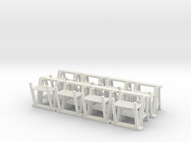 Trestle 01. 1:24  Scale in White Natural Versatile Plastic