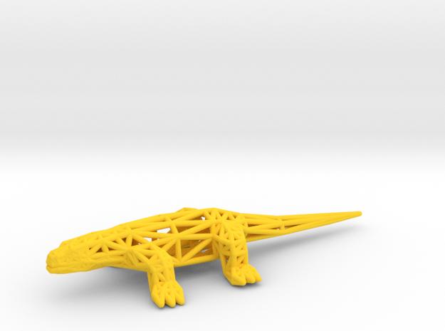 Komodo Dragon (adult) in Yellow Processed Versatile Plastic