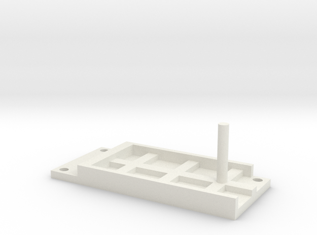 Model Railway Terminal Block Mount (18mm) in White Natural Versatile Plastic