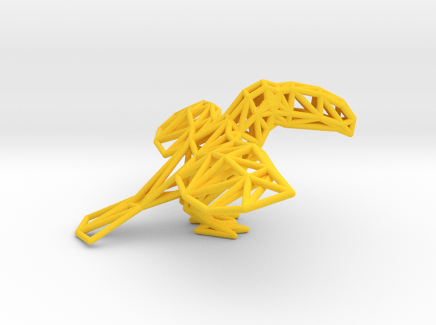 Toco Toucan in Yellow Processed Versatile Plastic