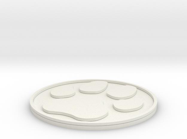 Paw Print Coaster