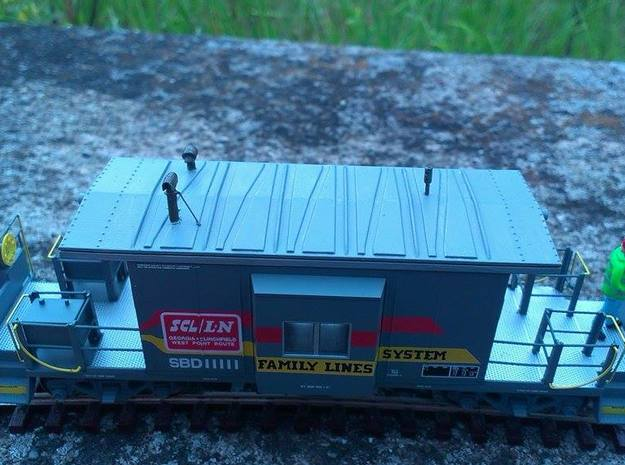 HO Bluford Caboose Roof in Frosted Ultra Detail