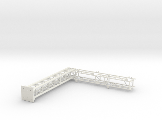 two track cantilever Bridge with CP Light brackets in White Natural Versatile Plastic