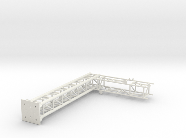 Single Track Cantilever Bridge with CL light brack in White Natural Versatile Plastic