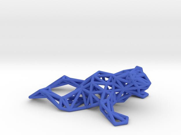 North American bullfrog in Blue Processed Versatile Plastic