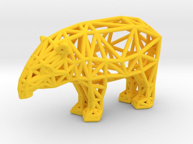Baird's Tapir (adult male) in Yellow Processed Versatile Plastic