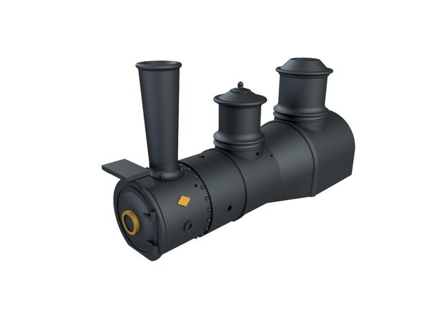 HOn30 Shay 1890s Shotgun boiler in Smoothest Fine Detail Plastic