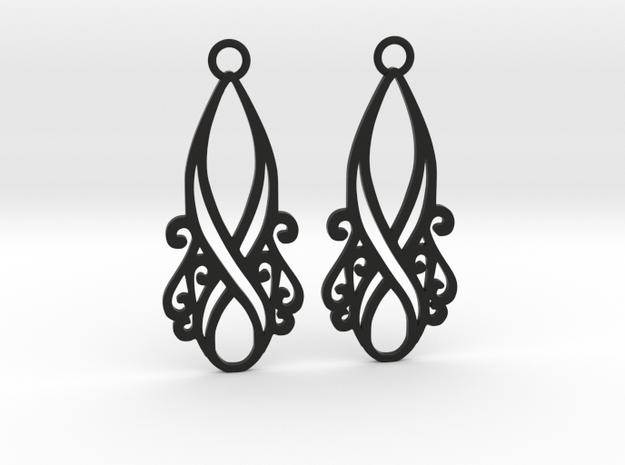 Lorelei earrings in Black Natural Versatile Plastic: Small