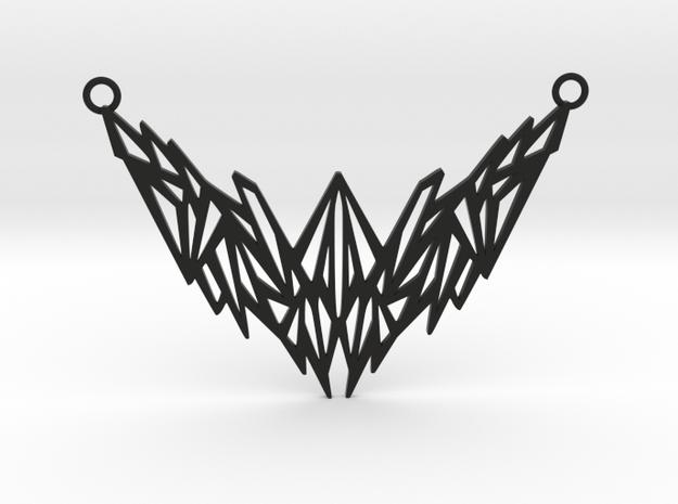 Geometrical pendant in Black Natural Versatile Plastic: Large