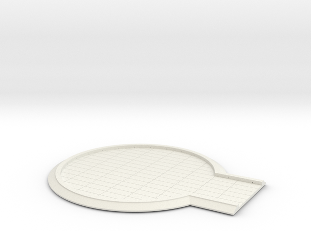 YT1300 BANDAY 1/144 CLOUD CITY LAND PAD TOP in White Natural Versatile Plastic