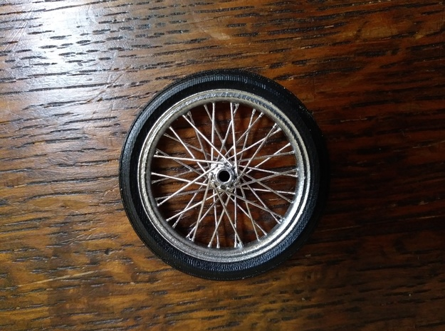 1/16 scale dragster front tire in Smoothest Fine Detail Plastic