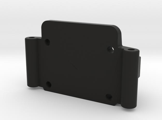 Team Losi JRX Front Bulkhead in Black Natural Versatile Plastic