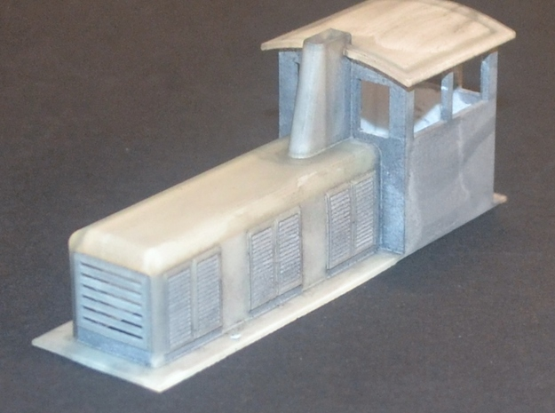 18 inch Gauge Loco HO scale in Smooth Fine Detail Plastic