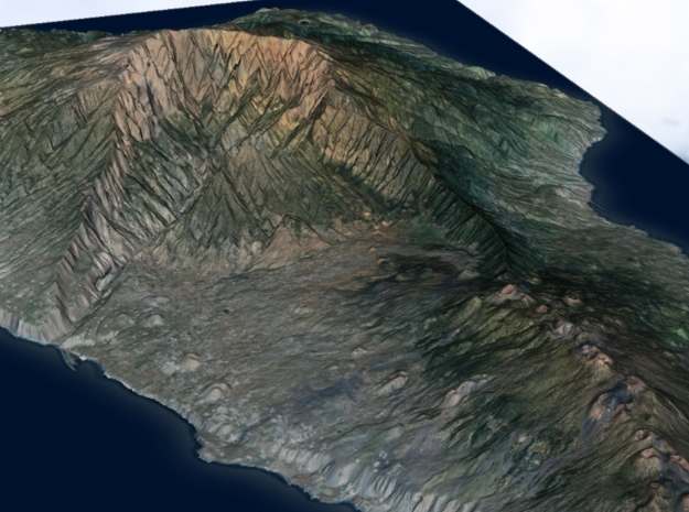 La Palma Map, Canary Islands - Large in Glossy Full Color Sandstone